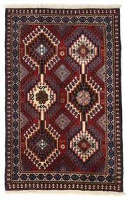 Yalameh Dywan 60X94 Orientalny Tkany Ręcznie Ciemnoczerwony (Wełna, Persja/Iran)
