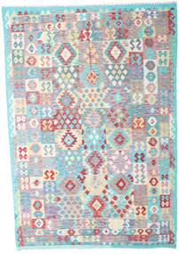 Kilim Afghan Old Style Rug 207X299 Authentic  Oriental Handwoven Light Grey/Beige (Wool, Afghanistan)