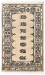 Pakistan Bokhara 2Ply Matta 90X147 Äkta Orientalisk Handknuten Beige/Mörkgrå/Ljusgrå (Ull, Pakistan)
