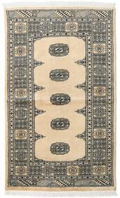 Pakistan Bokhara 2Ply Matta 93X156 Äkta Orientalisk Handknuten Beige/Svart (Ull, Pakistan)
