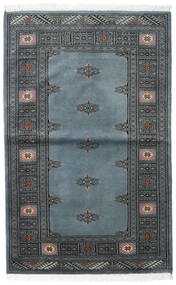 Pakistan Bokhara 2Ply Rug 95X150 Authentic Oriental Handknotted Light Grey/Dark Grey/Blue (Wool, Pakistan)