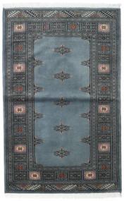 Pakistan Bokhara 2Ply Rug 95X150 Authentic Oriental Handknotted Light Grey/Dark Grey/Blue (Wool, Pakistan)