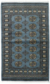 Pakistan Μπουχαρα 2Ply Χαλι 97X159 Ανατολής Χειροποιητο Μαύρα/Σκούρο Μπλε (Μαλλί, Πακιστανικά)