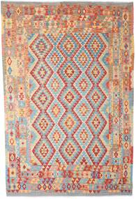 Kilim Afghan Old Style Rug 202X308 Authentic  Oriental Handwoven Rust Red/Dark Beige (Wool, Afghanistan)