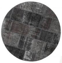 Patchwork - Persien/Iran Teppich  150X150 Echter Moderner Handgeknüpfter Quadratisch Schwartz/Dunkelgrau (Wolle, Persien/Iran)