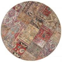 Patchwork - Persien/Iran Matto 150X150 Moderni Käsinsolmittu Neliö Vaaleanharmaa/Vaaleanruskea (Villa, Persia/Iran)