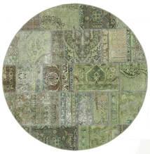 Patchwork - Persien/Iran Dywan 150X150 Nowoczesny Tkany Ręcznie Kwadratowy Jasnozielony/Ciemnozielony (Wełna, Persja/Iran)