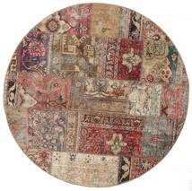 Patchwork - Persien/Iran Alfombra 150X150 Moderna Hecha A Mano Cuadrada Rojo Oscuro/Gris Claro (Lana, Persia/Irán)