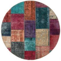 Patchwork - Persien/Iran Dywan 150X150 Nowoczesny Tkany Ręcznie Kwadratowy Ciemnoczerwony/Ciemnoszary (Wełna, Persja/Iran)