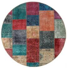 Patchwork - Persien/Iran Matto 150X150 Moderni Käsinsolmittu Neliö Tummanpunainen/Tummansininen (Villa, Persia/Iran)