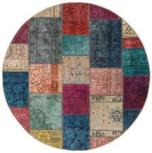 Patchwork - Persien/Iran Matto 150X150 Moderni Käsinsolmittu Neliö Tummanharmaa/Vaaleanruskea (Villa, Persia/Iran)
