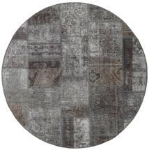 Patchwork - Persien/Iran Szőnyeg 150X150 Modern Csomózású Szögletes Sötétszürke/Világosszürke (Gyapjú, Perzsia/Irán)