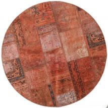Patchwork - Persien/Iran Matto Ø 150 Moderni Käsinsolmittu Pyöreä Punainen/Tummanpunainen (Villa, Persia/Iran)