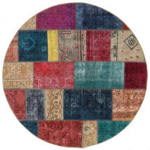 Patchwork - Persien/Iran Alfombra Ø 150 Moderna Hecha A Mano Redonda Rojo Oscuro/Azul Oscuro (Lana, Persia/Irán)