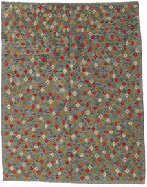 Kilim Afghan Old Style Rug 181X232 Authentic  Oriental Handwoven Dark Grey/Olive Green (Wool, Afghanistan)