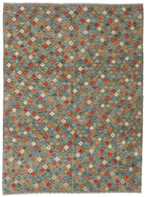 Kilim Afgán Old Style Szőnyeg 172X233 Keleti Kézi Szövésű Sötétszürke/Olívazöld (Gyapjú, Afganisztán)