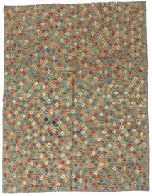 Kilim Afghan Old Style Rug 179X229 Authentic  Oriental Handwoven Olive Green/Dark Grey (Wool, Afghanistan)