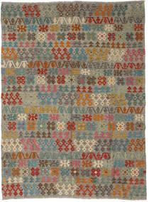 Kelim Afghan Old Style Vloerkleed 178X241 Echt Oosters Handgeweven Lichtgrijs/Olijfgroen (Wol, Afghanistan)