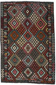 Kilim Afgán Old Style Szőnyeg 198X293 Keleti Kézi Szövésű Fekete/Sötétszürke (Gyapjú, Afganisztán)
