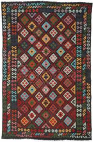 Kilim Afghan Old Style Rug 189X296 Authentic  Oriental Handwoven Black/Dark Red (Wool, Afghanistan)