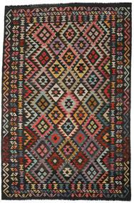 Kilim Afgán Old Style Szőnyeg 193X293 Keleti Kézi Szövésű Fekete/Sötétszürke (Gyapjú, Afganisztán)