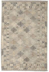 Kelim Afghan Old Style Tæppe 205X304 Ægte Orientalsk Håndvævet Lysegrå (Uld, Afghanistan)