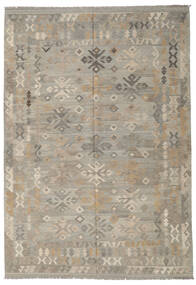 Kilim Afghan Old Style Rug 205X296 Authentic  Oriental Handwoven Light Grey (Wool, Afghanistan)