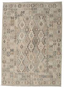 Kelim Afghan Old Style Tæppe 212X290 Ægte Orientalsk Håndvævet Lysegrå (Uld, Afghanistan)