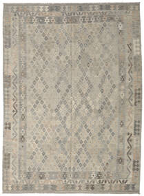 Kilim Afghan Old Style Rug 215X292 Authentic  Oriental Handwoven Light Grey (Wool, Afghanistan)