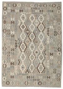 Kilim Afghan Old Style Rug 213X297 Authentic  Oriental Handwoven Light Grey (Wool, Afghanistan)