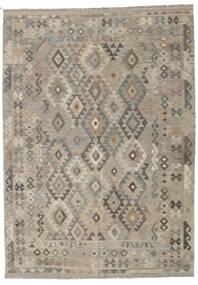 Kilim Afghan Old Style Rug 207X288 Authentic  Oriental Handwoven Light Grey/Light Brown (Wool, Afghanistan)