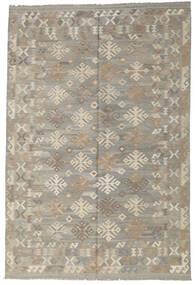 Kelim Afghan Old Style Tæppe 204X305 Ægte Orientalsk Håndvævet Lysegrå (Uld, Afghanistan)