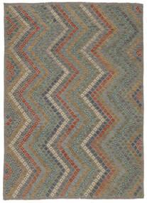 Kilim Afgán Old Style Szőnyeg 213X285 Keleti Kézi Szövésű Világosszürke/Sötétszürke (Gyapjú, Afganisztán)