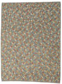 Kilim Afghan Old Style Rug 214X283 Authentic  Oriental Handwoven Dark Grey/Light Grey (Wool, Afghanistan)