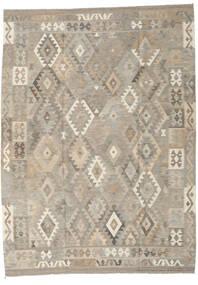 Kelim Afghan Old Style Tæppe 210X286 Ægte Orientalsk Håndvævet Lysegrå (Uld, Afghanistan)