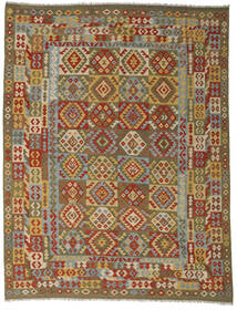 Kilim Afghan Old Style Rug 255X335 Authentic  Oriental Handwoven Brown/Olive Green Large (Wool, Afghanistan)