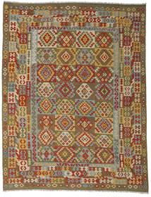 Kilim Afgán Old Style Szőnyeg 255X335 Keleti Kézi Szövésű Barna/Olívazöld Nagy (Gyapjú, Afganisztán)