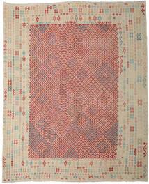 Kilim Afgan Old Style Dywan 330X403 Orientalny Tkany Ręcznie Jasnoszary/Rdzawy/Czerwony Duży (Wełna, Afganistan)