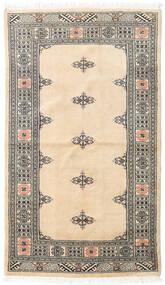 Pakistan Buchara 3Ply Teppich 94X162 Echter Orientalischer Handgeknüpfter Beige/Dunkelgrau (Wolle, Pakistan)