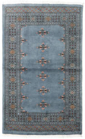 Pakistan Bokhara 3Ply Rug 93X154 Authentic  Oriental Handknotted Blue/Dark Grey (Wool, Pakistan)