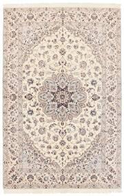ナイン 6La 絨毯 152X233 オリエンタル 手織り ホワイト/クリーム色/薄い灰色/ベージュ (ウール/絹, ペルシャ/イラン)