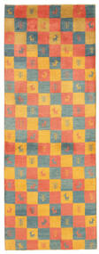 Gabbeh Persia Rug 78X207 Authentic  Modern Handwoven Hallway Runner  Orange/Light Brown (Wool, Persia/Iran)