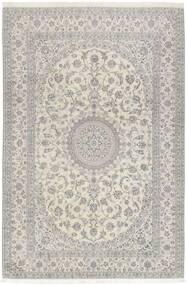 Nain 6La Teppich 208X307 Echter Orientalischer Handgewebter Hellgrau/Dunkel Beige (Wolle/Seide, Persien/Iran)