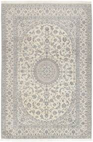 Nain 6La Alfombra 208X307 Oriental Tejida A Mano Gris Claro/Beige Oscuro (Lana/Seda, Persia/Irán)