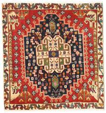 Ghashghai Tappeto 64X68 Orientale Fatto A Mano Quadrato Ruggine/Rosso/Marrone Scuro (Lana, Persia/Iran)