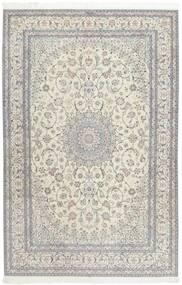 ナイン 6La 絨毯 207X317 オリエンタル 手織り 薄い灰色/暗めのベージュ色の (ウール/絹, ペルシャ/イラン)