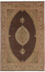 Tabriz 50 Raj Vloerkleed 202X311 Echt Oosters Handgeweven Bruin/Lichtbruin (Wol/Zijde, Perzië/Iran)