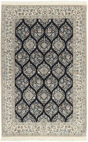Nain 6La Rug 146X233 Authentic  Oriental Handwoven Light Grey/Beige (Wool/Silk, Persia/Iran)