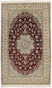 ナイン 6La 絨毯 133X228 オリエンタル 手織り 薄茶色/濃い茶色/薄い灰色 (ウール/絹, ペルシャ/イラン)