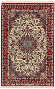 Isfahan Urdimbre De Seda Alfombra 110X168 Oriental Tejida A Mano Rojo Oscuro/Gris Claro (Lana/Seda, Persia/Irán)